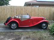 1950 MG roadster MG TD Roadster 1950 In Red